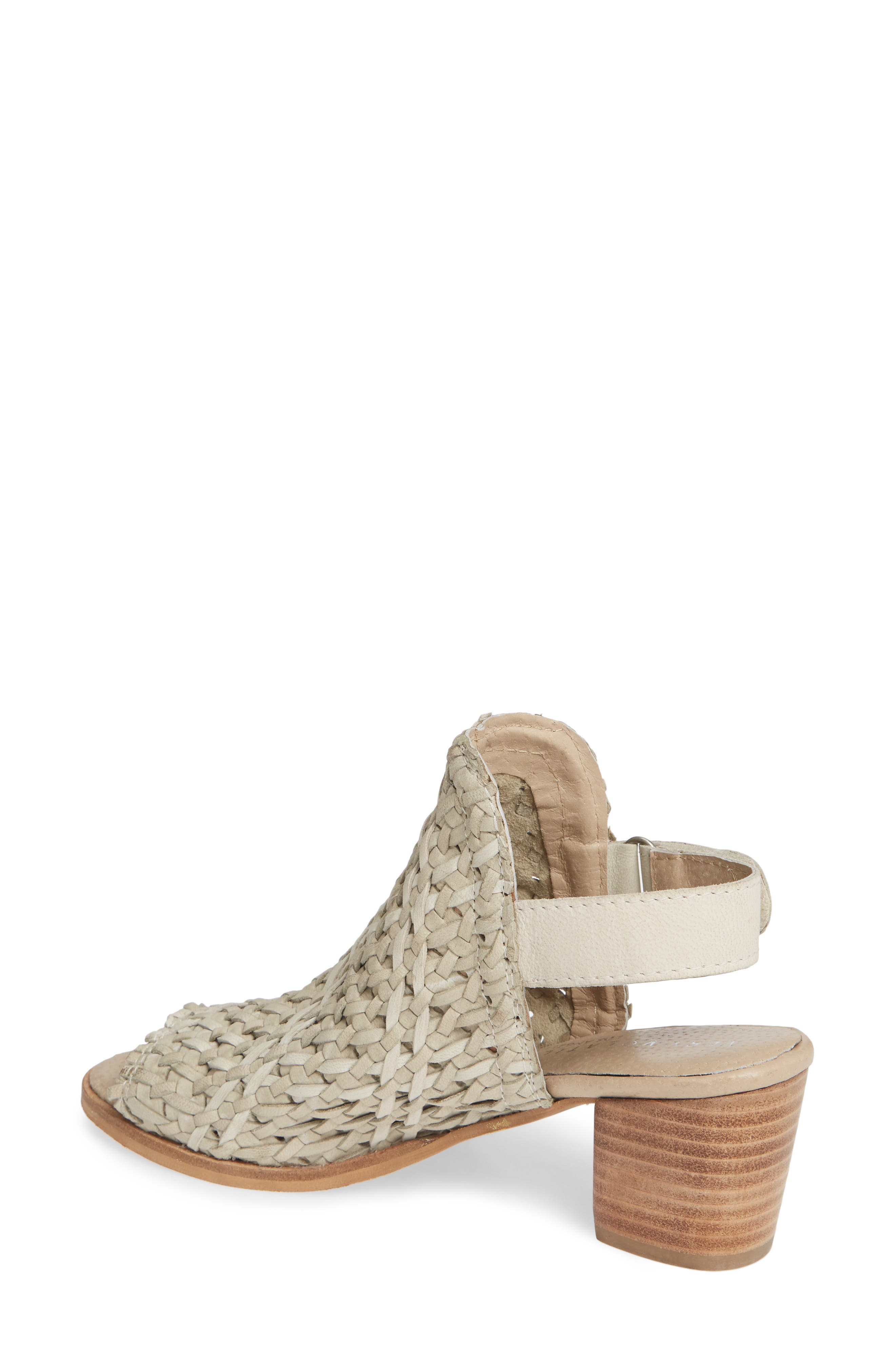 ,                             Veronique Woven Slingback Sandal,                             Alternate thumbnail 2, color,                             STONE LEATHER