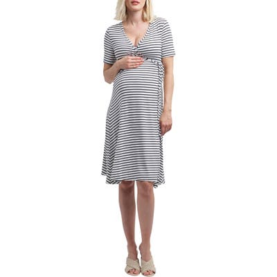 Nom Maternity Maya Maternity/nursing Wrap Dress, Black