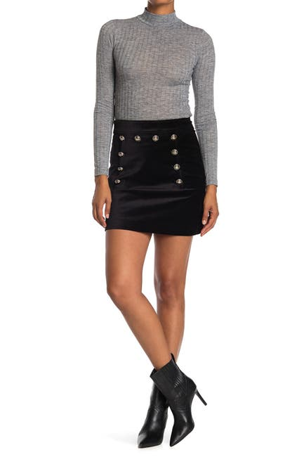 Image of VERONICA BEARD Ording Button Front Mini Skirt
