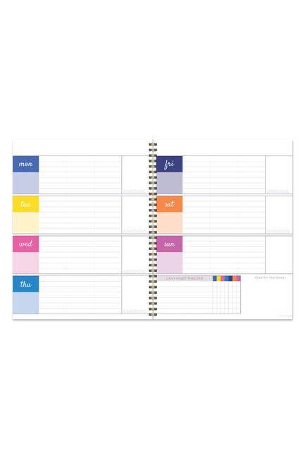 Image of TF Publishing Bright Floral Blooms Undated Large Weekly Spiral Planner