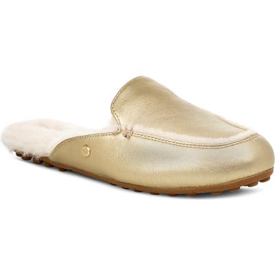 UGG Lane Metallic Genuine Shearling Loafer Slipper- Metallic
