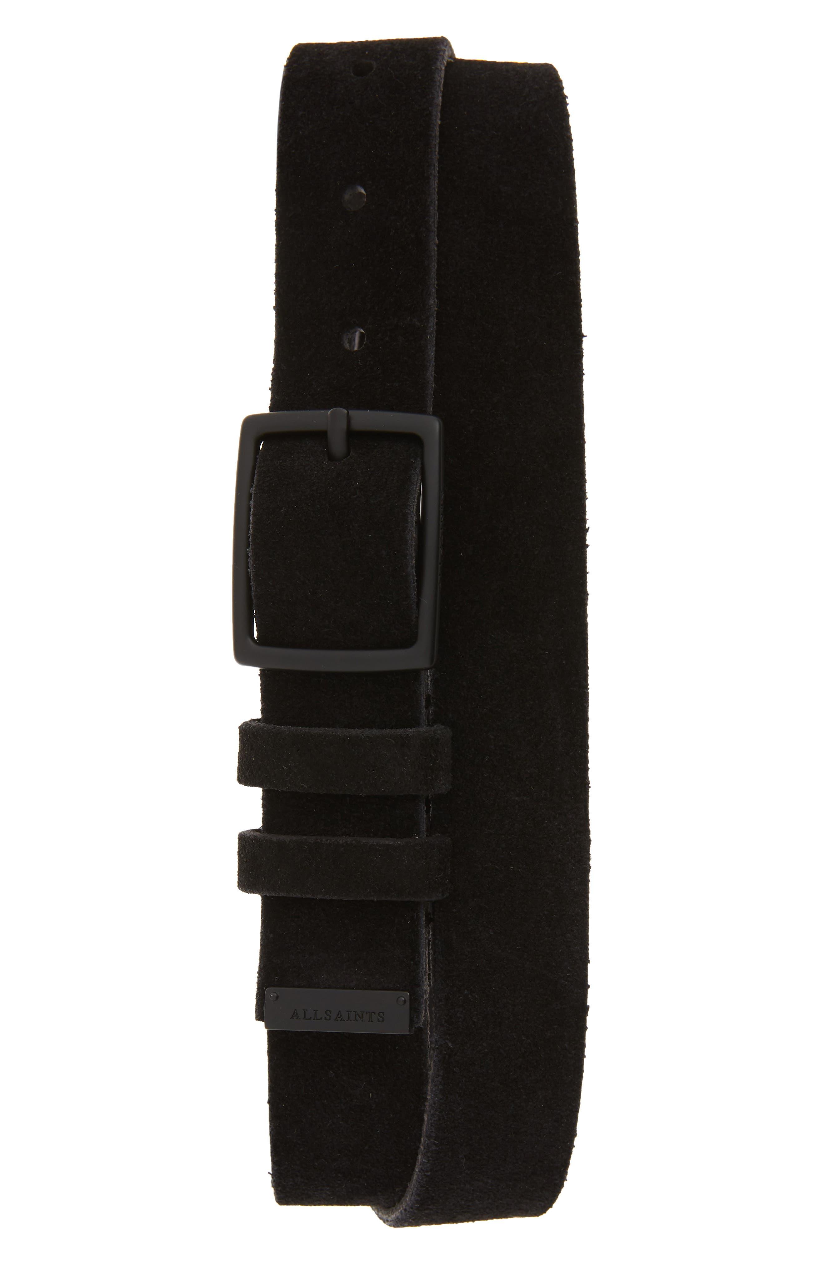 Allsaints Suede Belt, Black