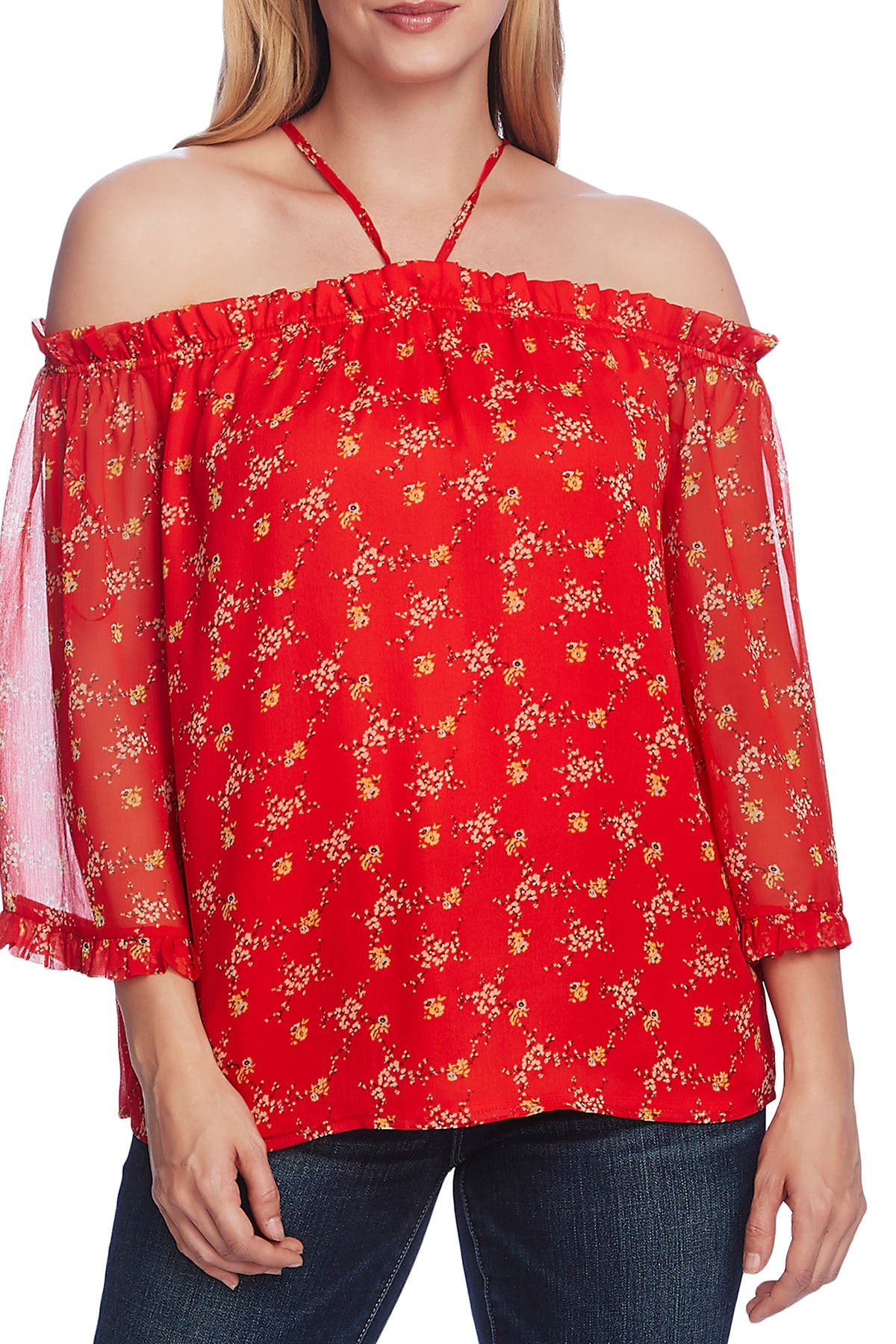 Image of Vince Camuto Bouquet Refresh Top