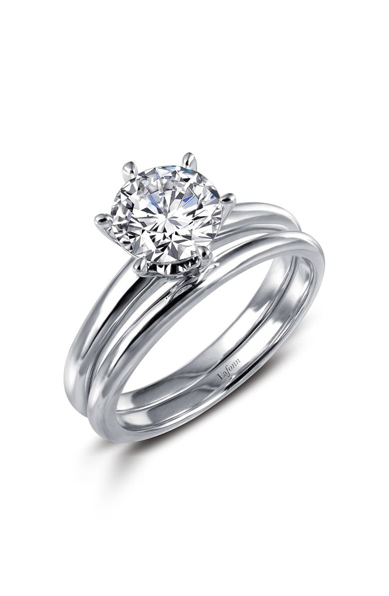 LAFONN Simulated Diamond Ring, Main, color, SILVER