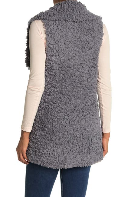Image of Coffee Shop Teddy Drape Vest