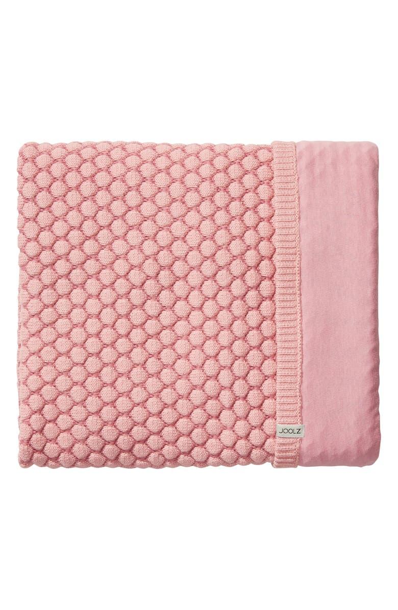JOOLZ Essentials Honeycomb Organic Cotton Blanket, Main, color, PINK