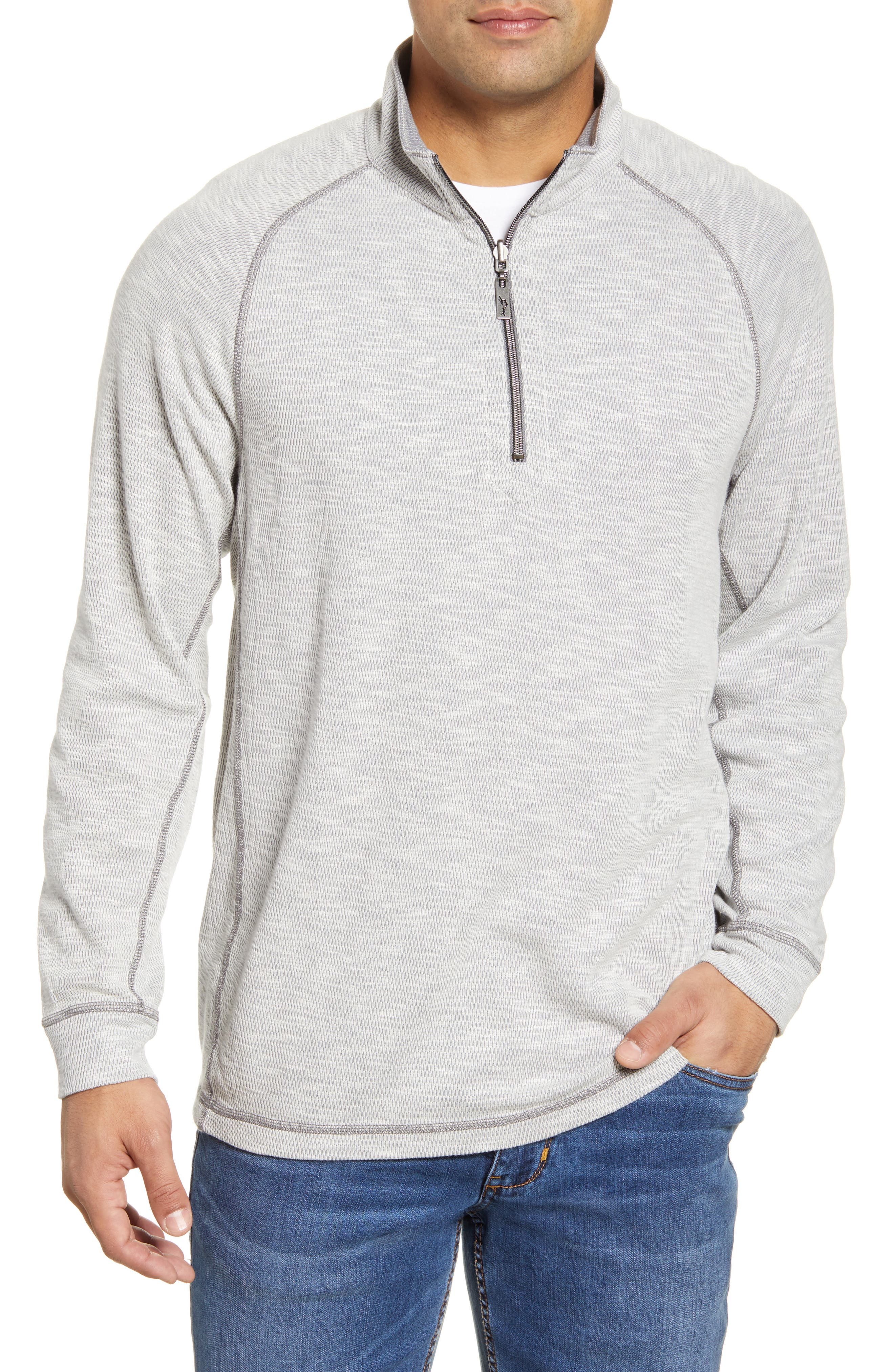 Image of Tommy Bahama Barrier Beach Reversible Half Zip Pullover