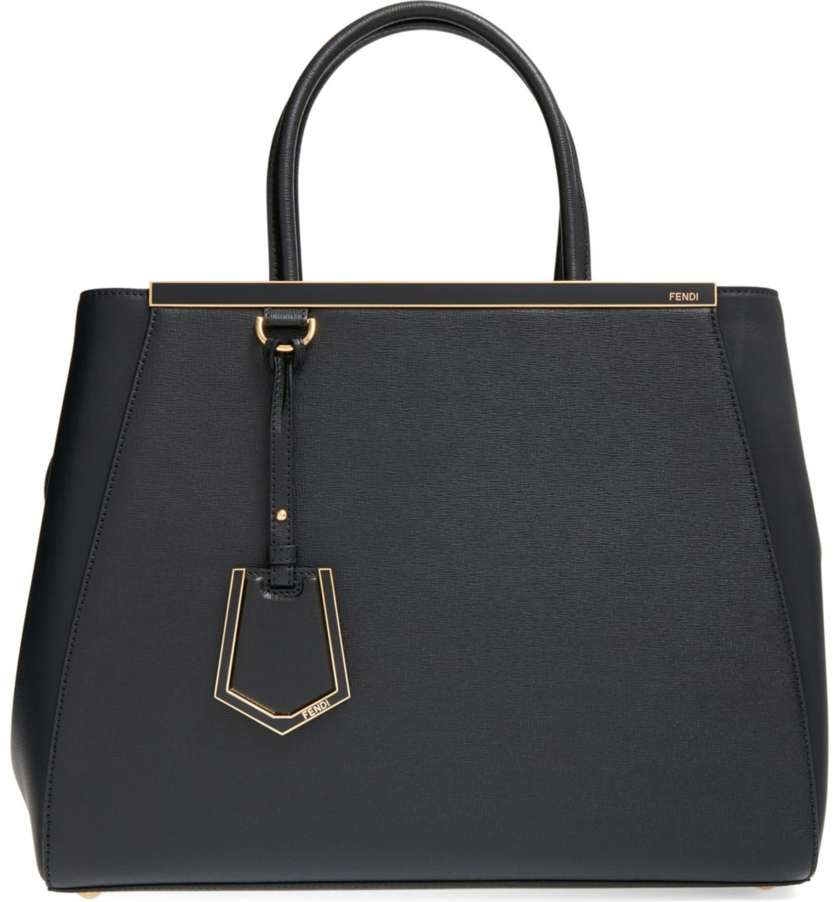 6c9d7e8eb Fendi '2Jours Elite' Leather Shopper   Nordstrom