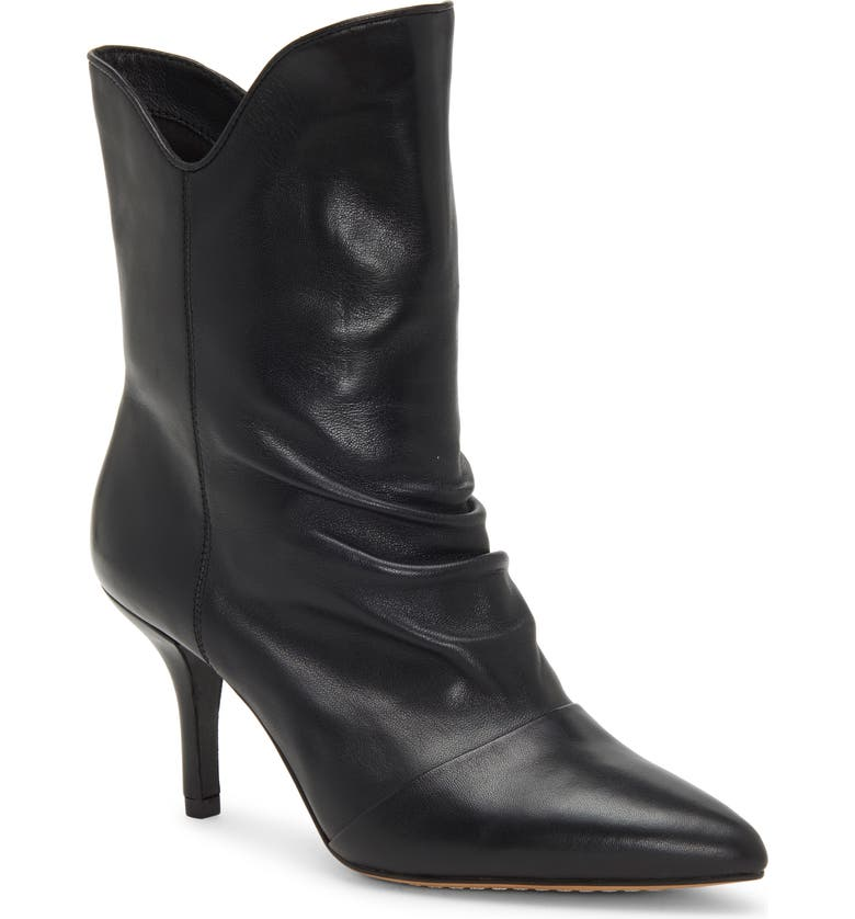 VINCE CAMUTO Andrissa Bootie, Main, color, BLACK LEATHER