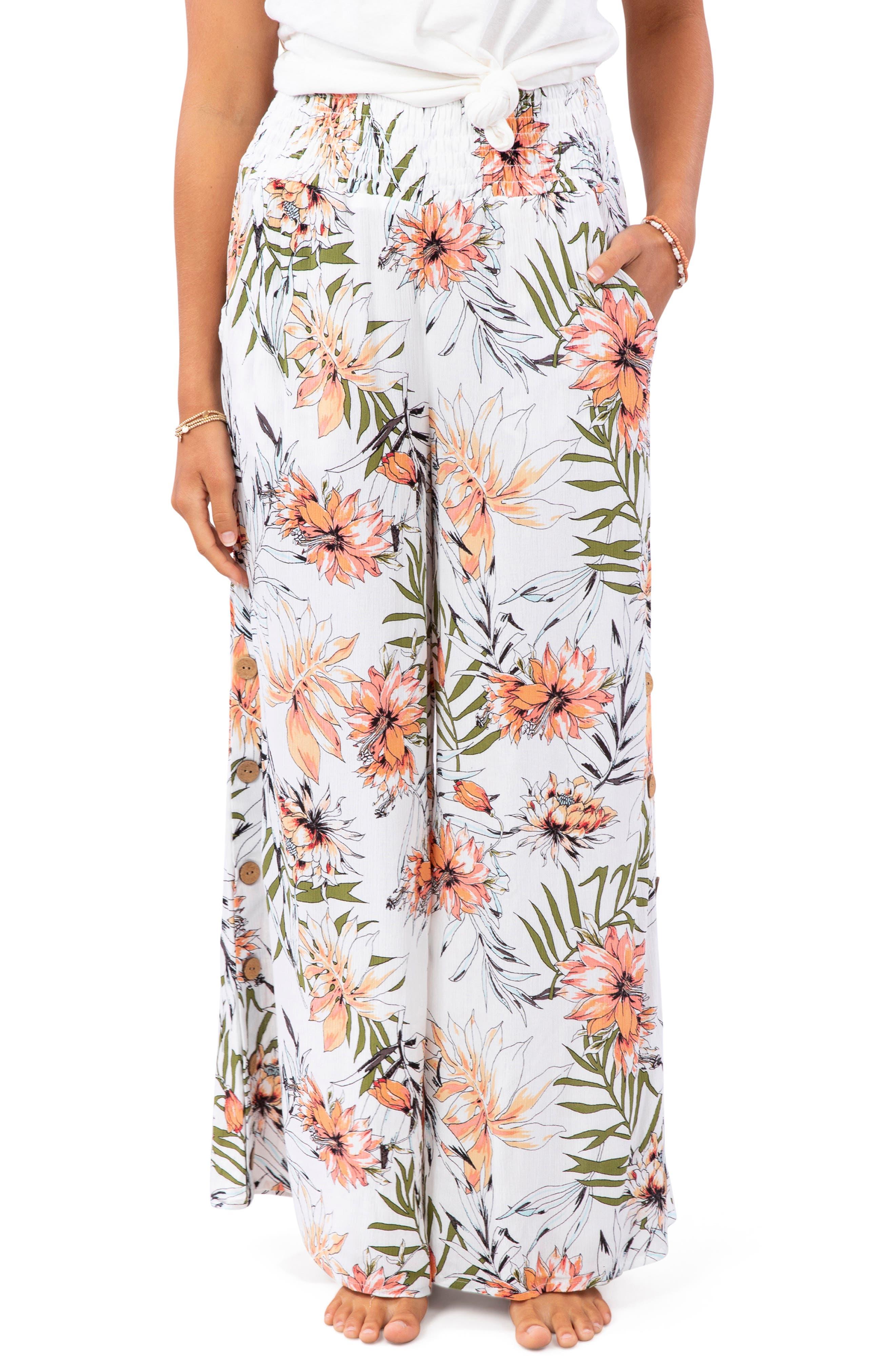 Women's Rip Curl Playa Blanca Wide Leg Pants,  Medium - White