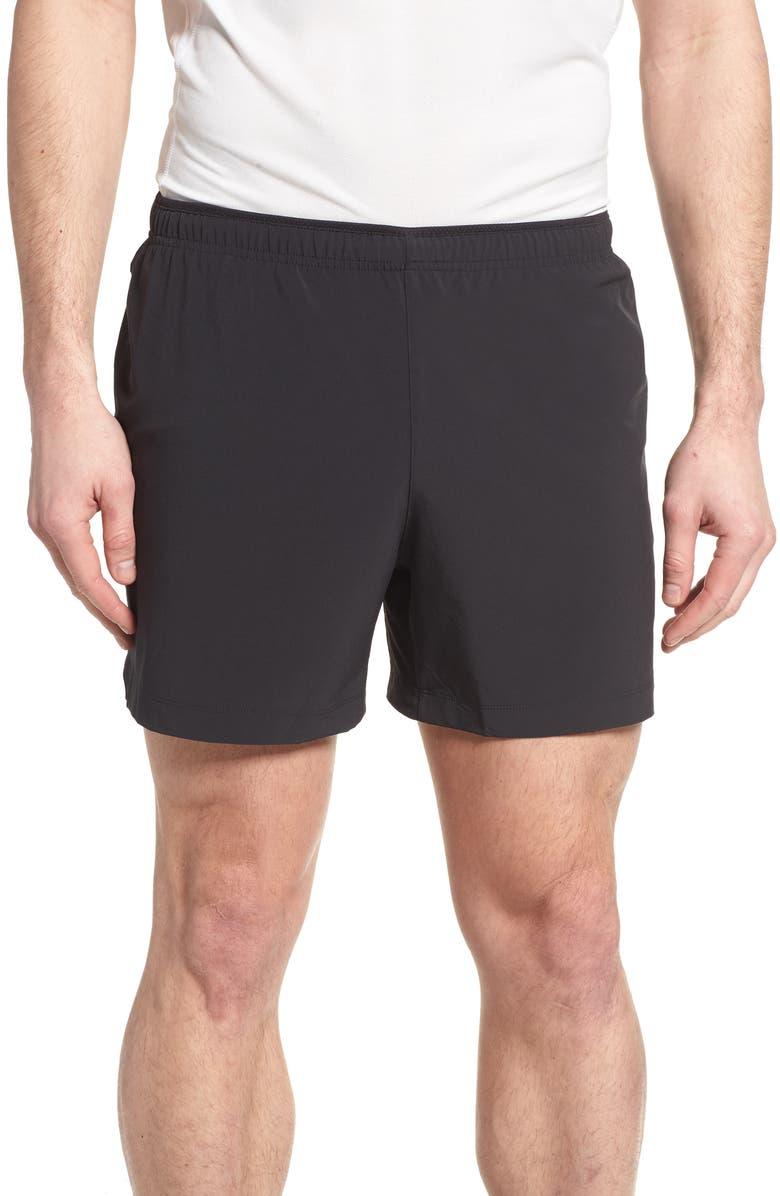 NEW BALANCE Impact Shorts, Main, color, BLACK MULTI
