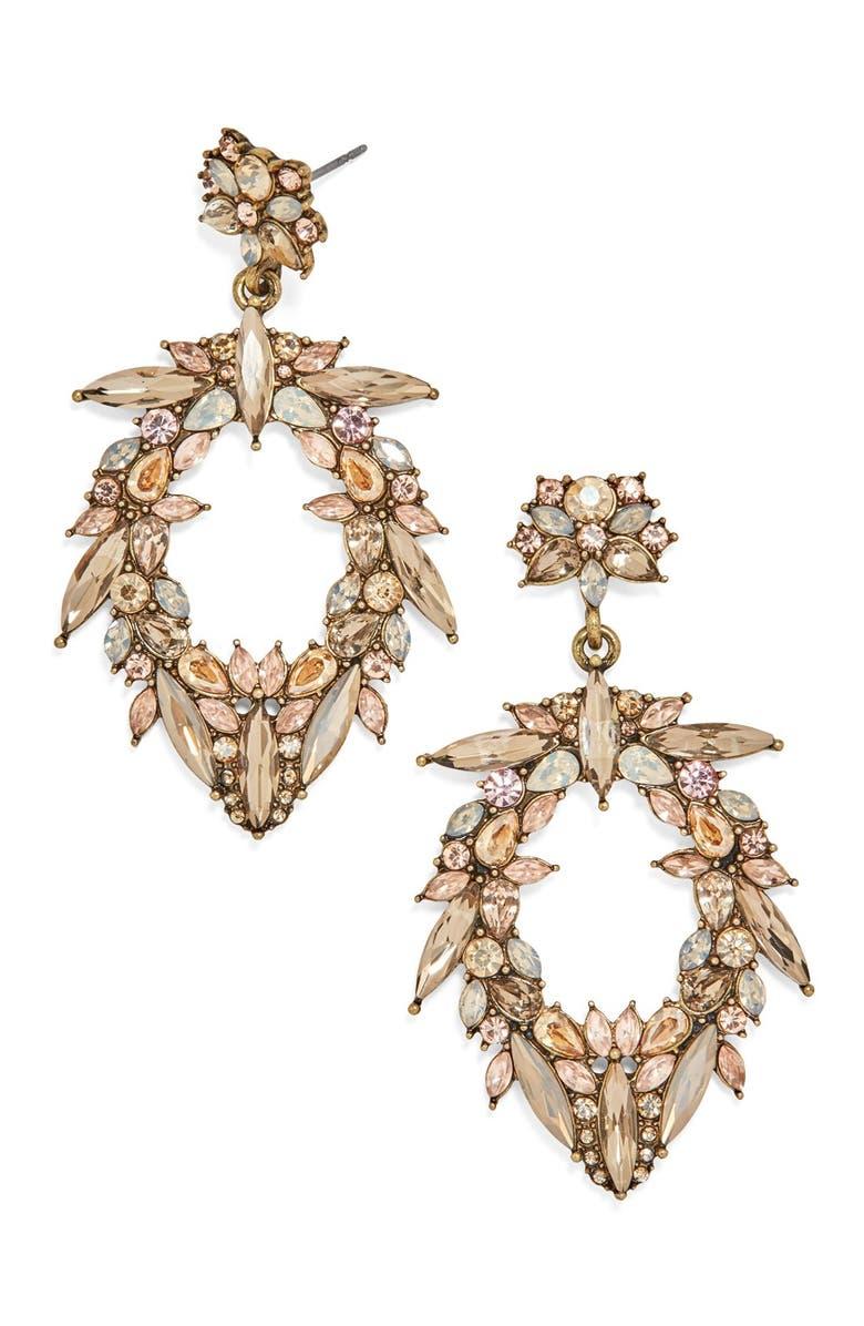 BAUBLEBAR 'Nevaeh' Crystal Drop Earrings, Main, color, 021