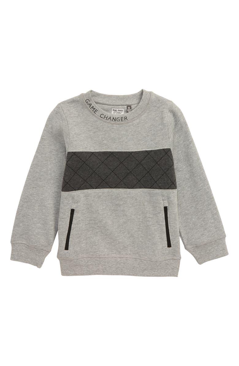 REBEL JAMES & CHARLI Game Changer Sweatshirt, Main, color, GREY