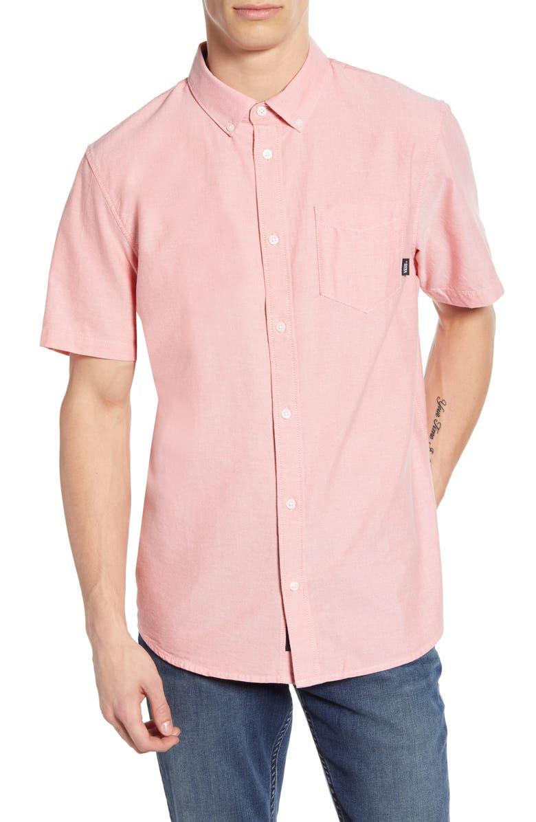 VANS Houser Slim Fit Woven Shirt, Main, color, EMBERGLOW