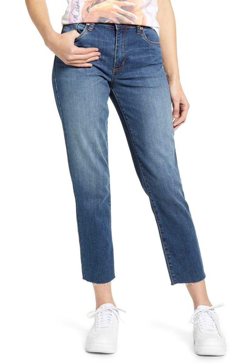 STS BLUE Caroline High Waist Straight Leg Crop Jeans, Main, color, MOULTON