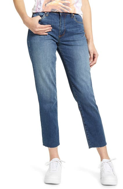 Image of STS BLUE Caroline High Waist Straight Leg Crop Jeans