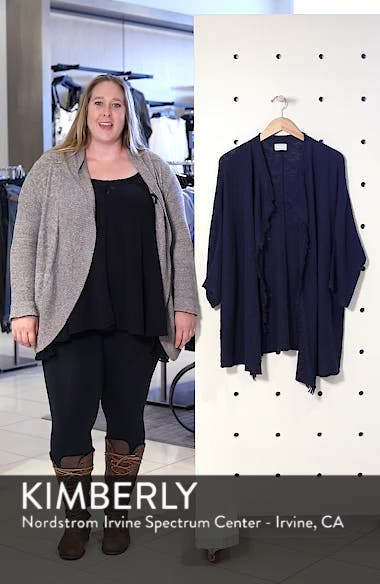 Fringe Open Front Dolman Cardigan, sales video thumbnail