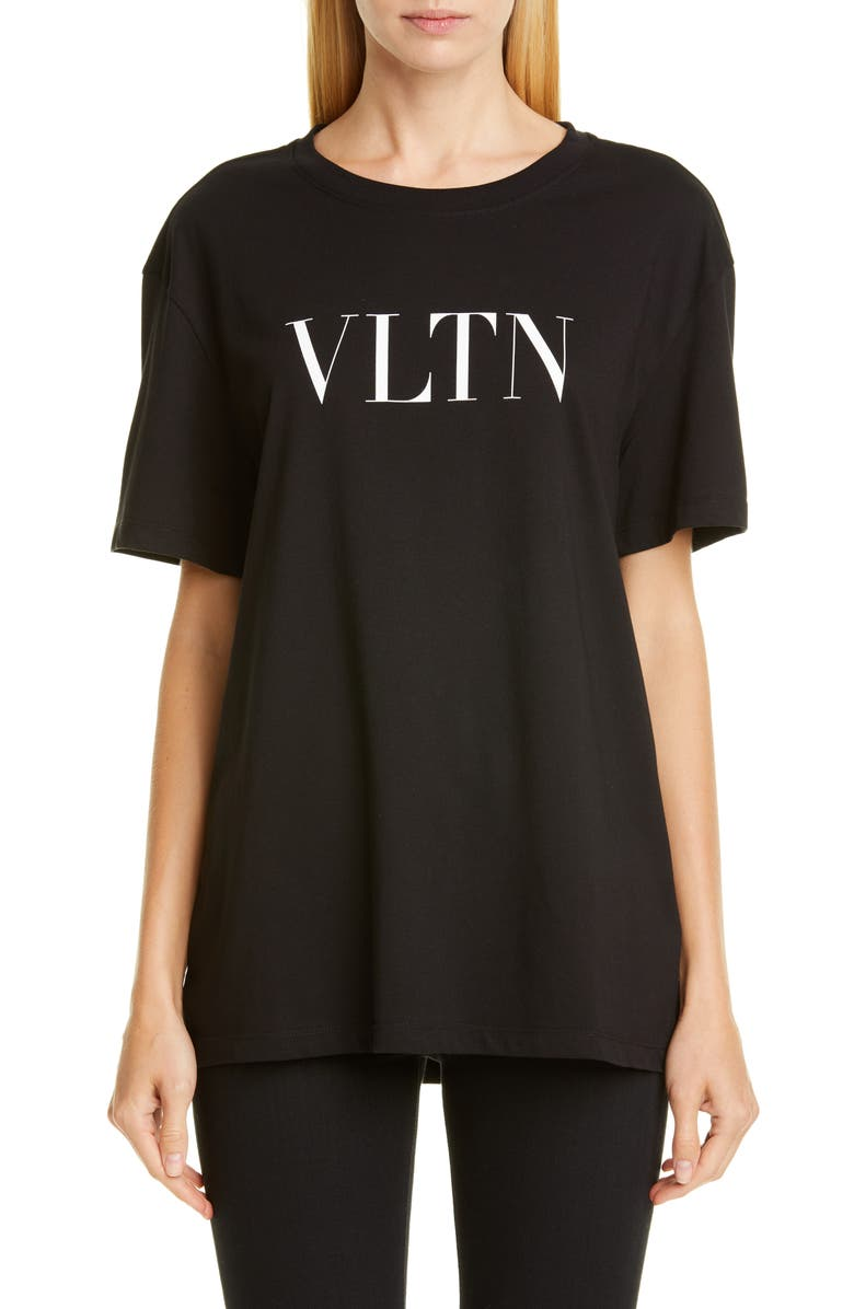 VALENTINO VLTN Logo Tee, Main, color, BLACK/ WHITE