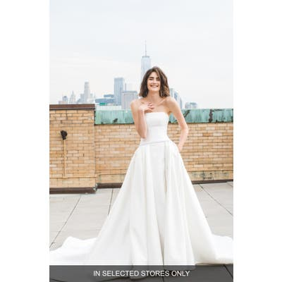 Ines By Ines Di Santo Madi Beaded Strapless Wedding Dress, Size - Ivory