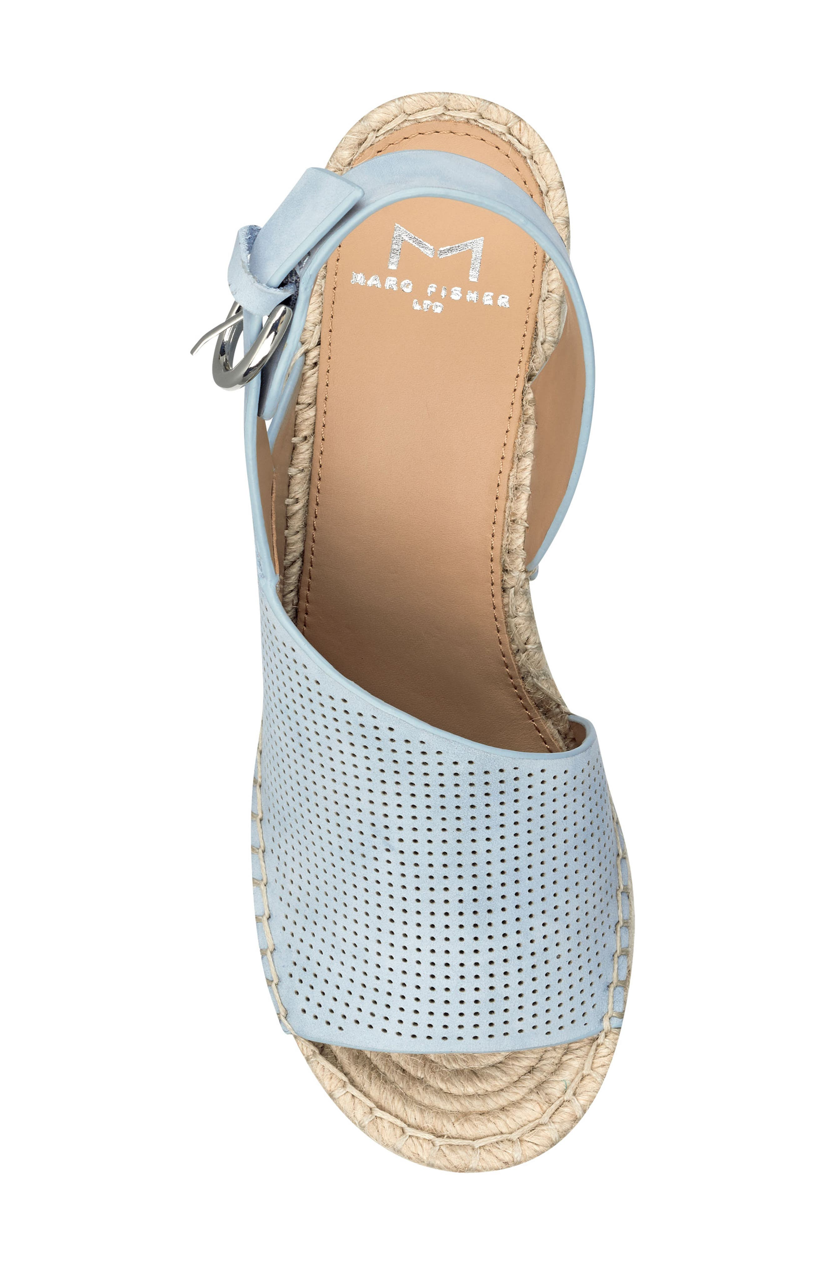 ,                             Andela Slingback Espadrille Wedge,                             Alternate thumbnail 5, color,                             LIGHT BLUE NUBUCK