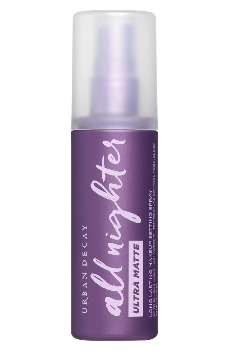 URBAN DECAY All Nighter Ultra Matte Makeup Setting Spray, Main, color, NO COLOR