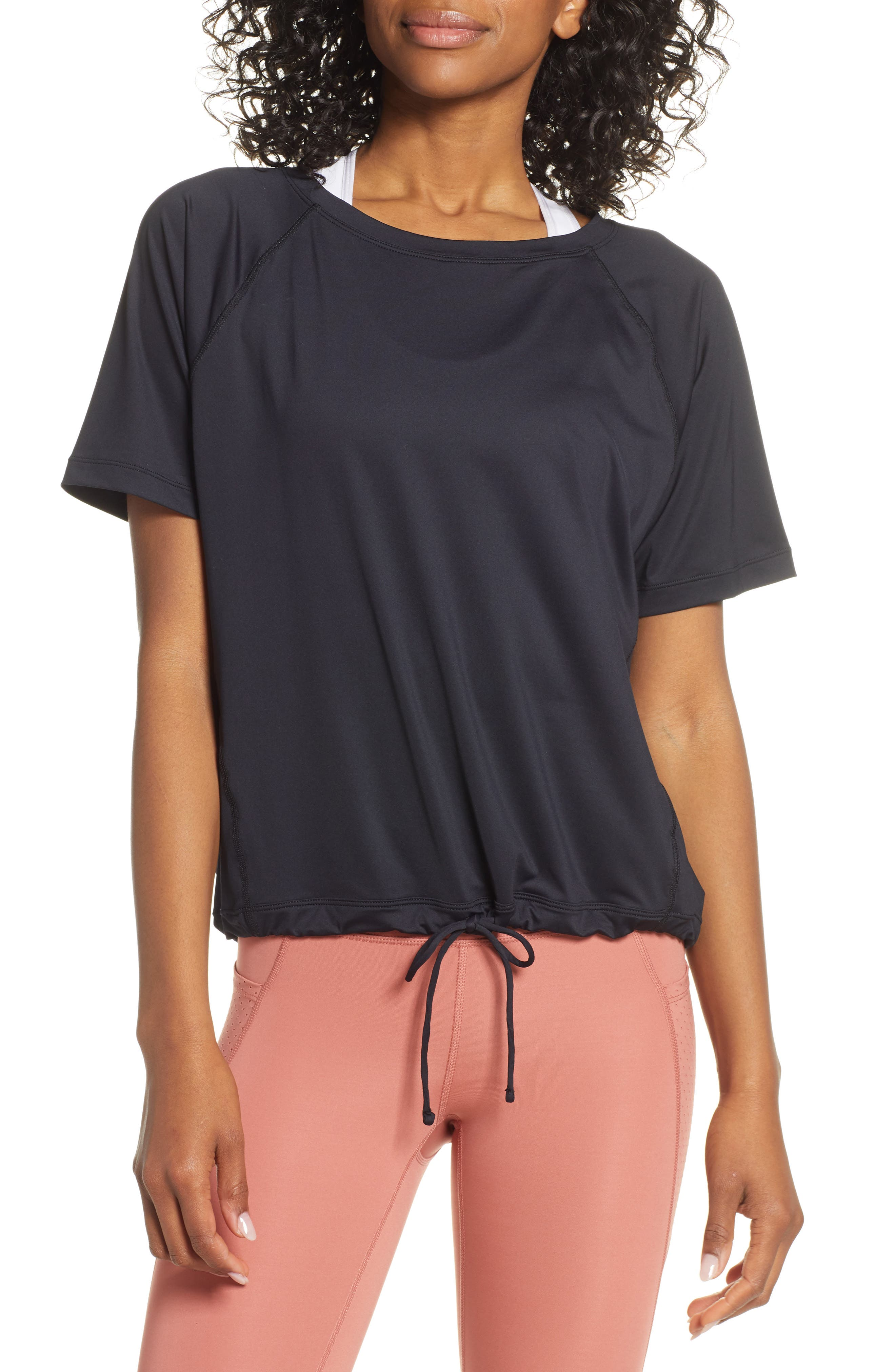 Square Up Boxy Tee, Main, color, BLACK