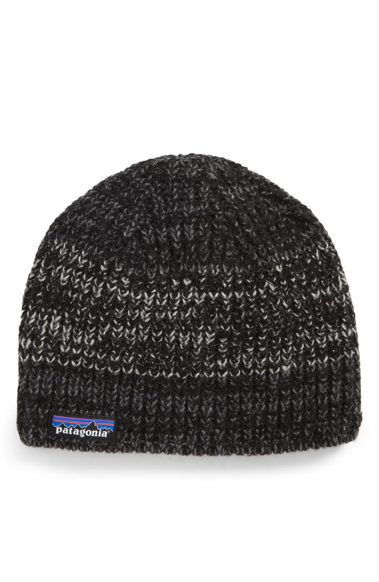 PATAGONIA Speedway Wool Blend Beanie, Main, color, 001