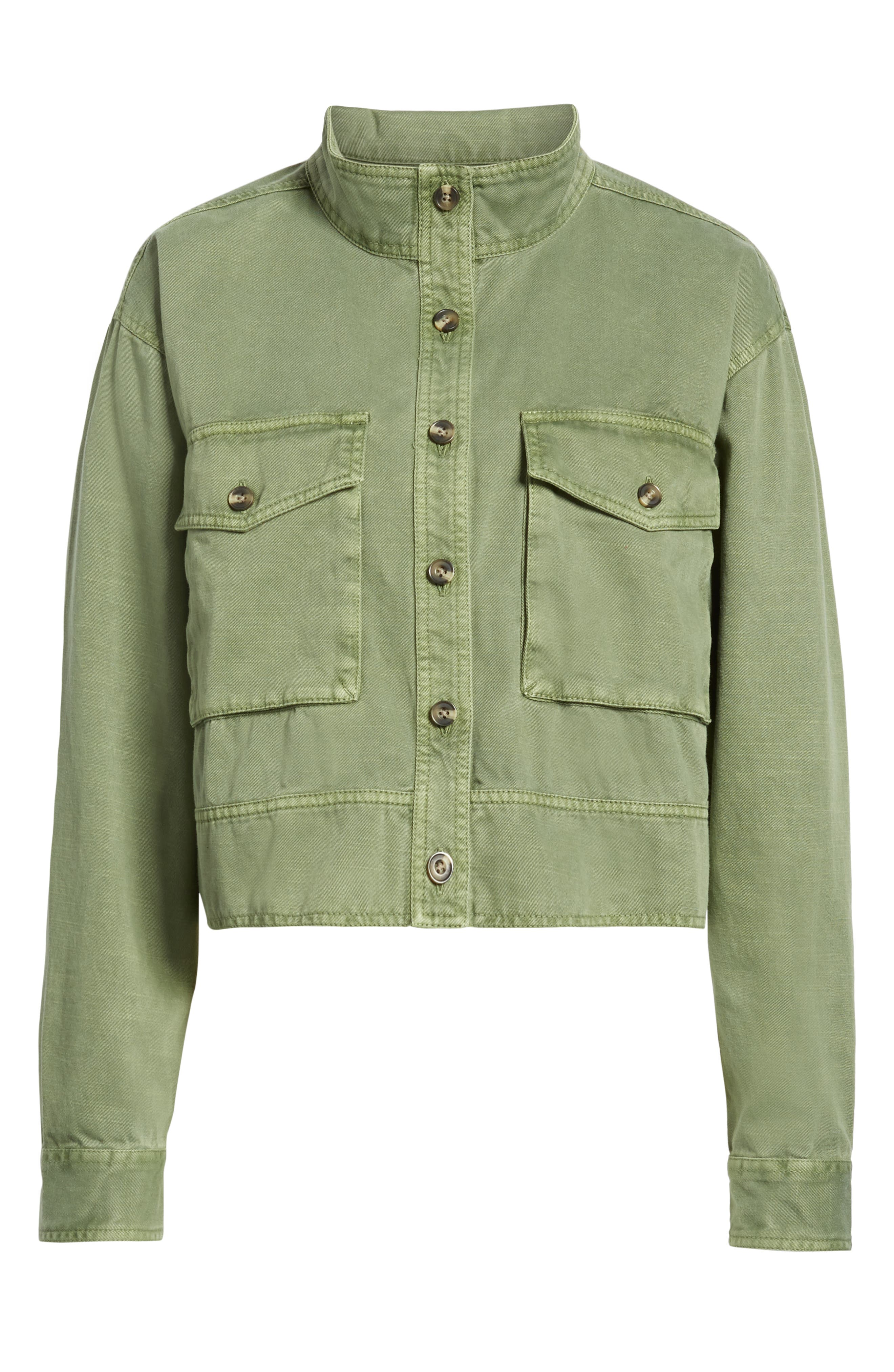 ,                             Crop Military Jacket,                             Alternate thumbnail 7, color,                             301