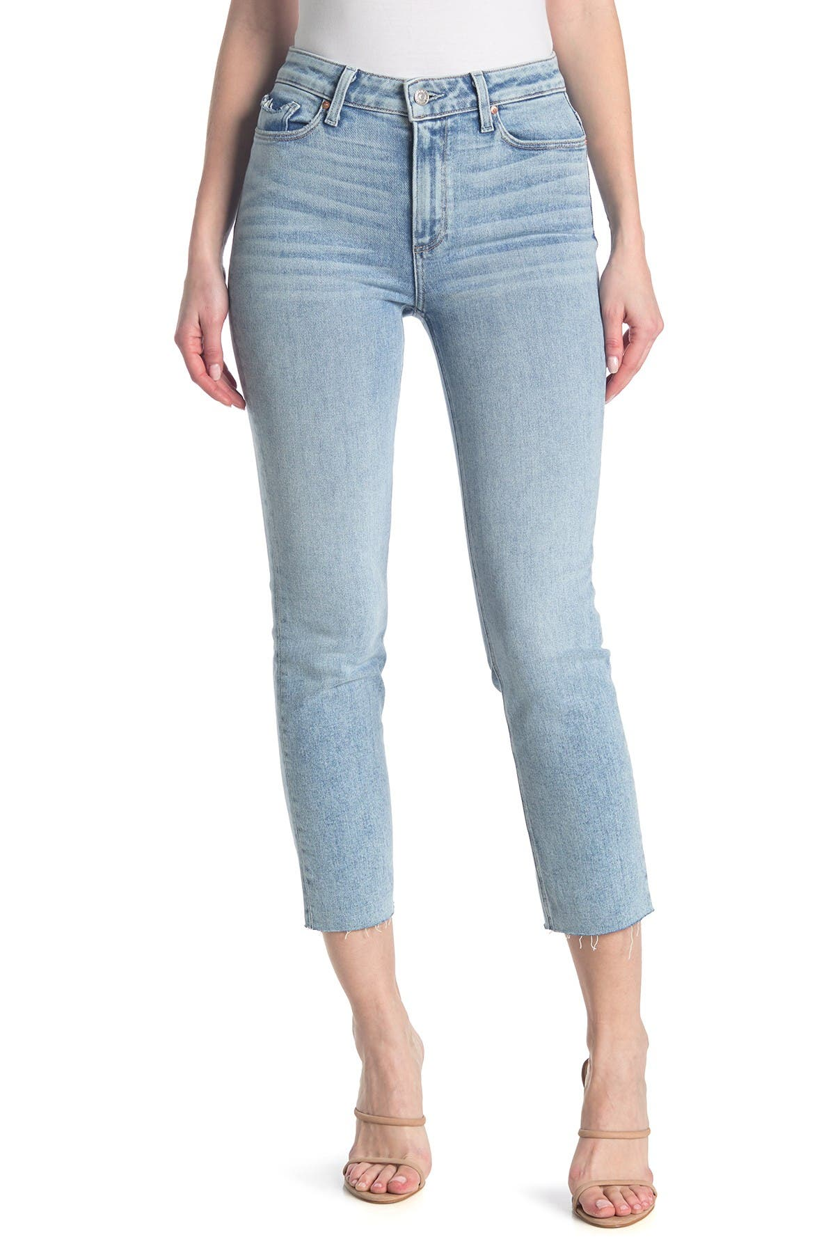 Paige Womens Tari Hoxton Blue Denim High Rise Skinny Crop Jeans 24 BHFO 8259