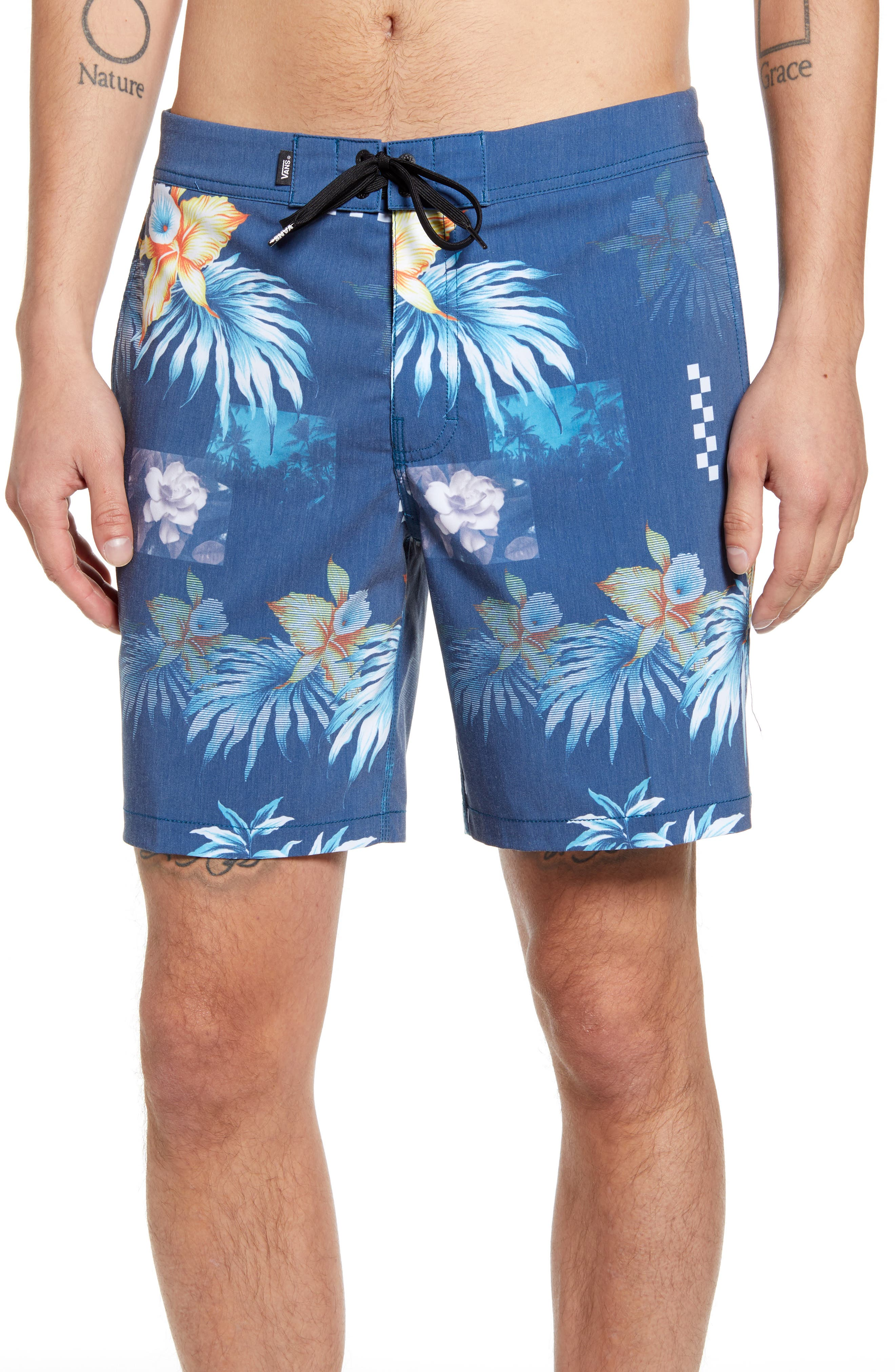 Vans Fountain Valley Floral Board Shorts, Black