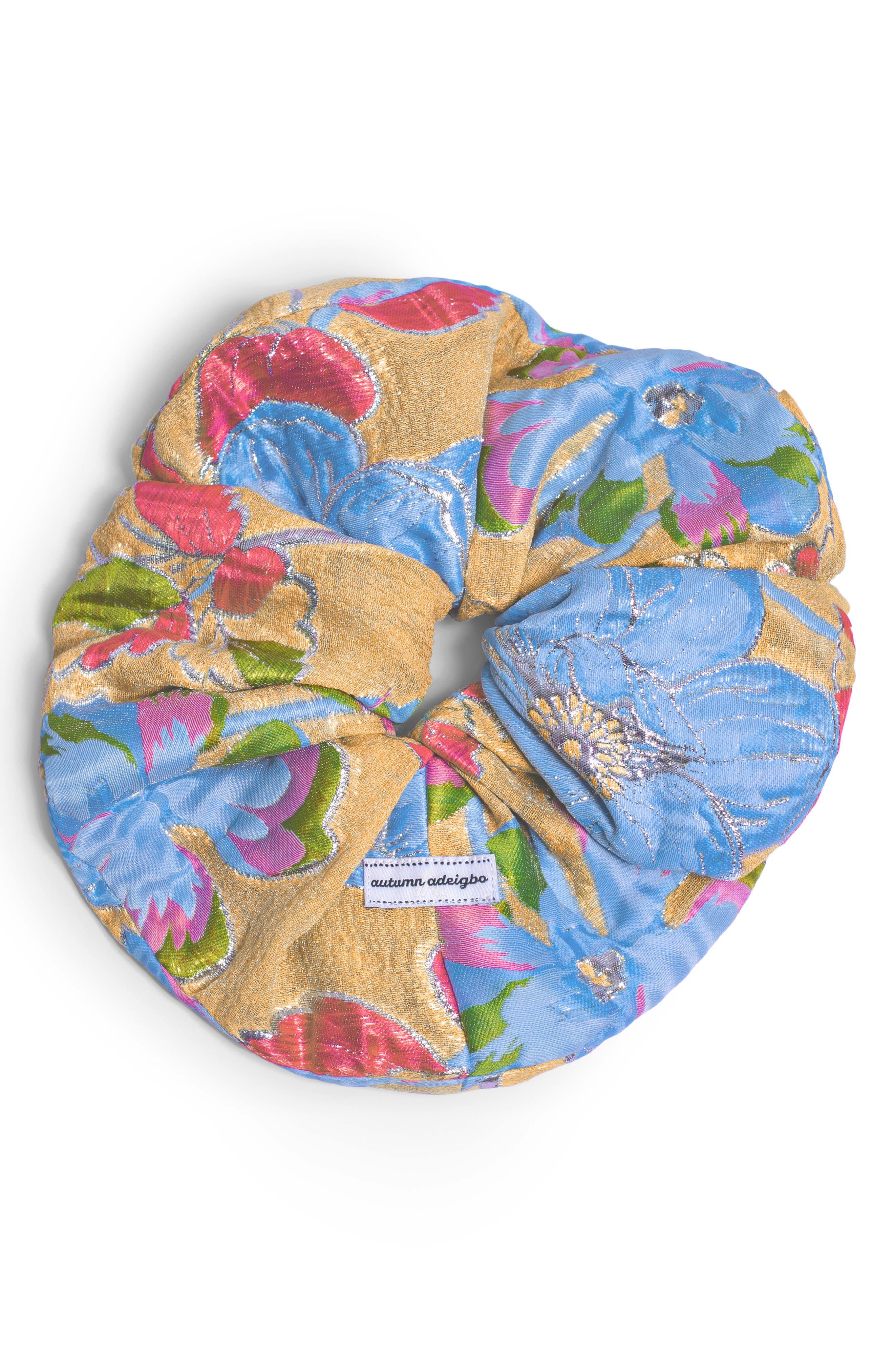 Yellow Brocade Scrunchie