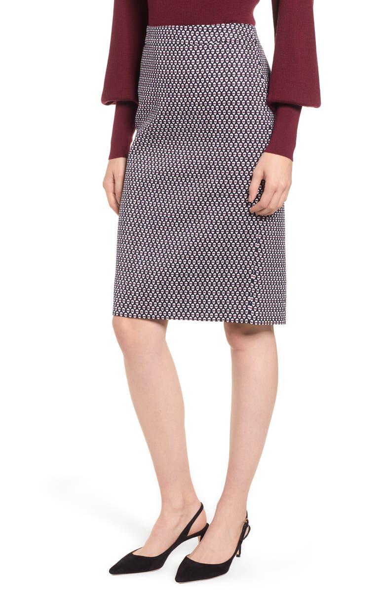 J.CREW Leslie Stretch Cotton Skirt, Main, color, 400