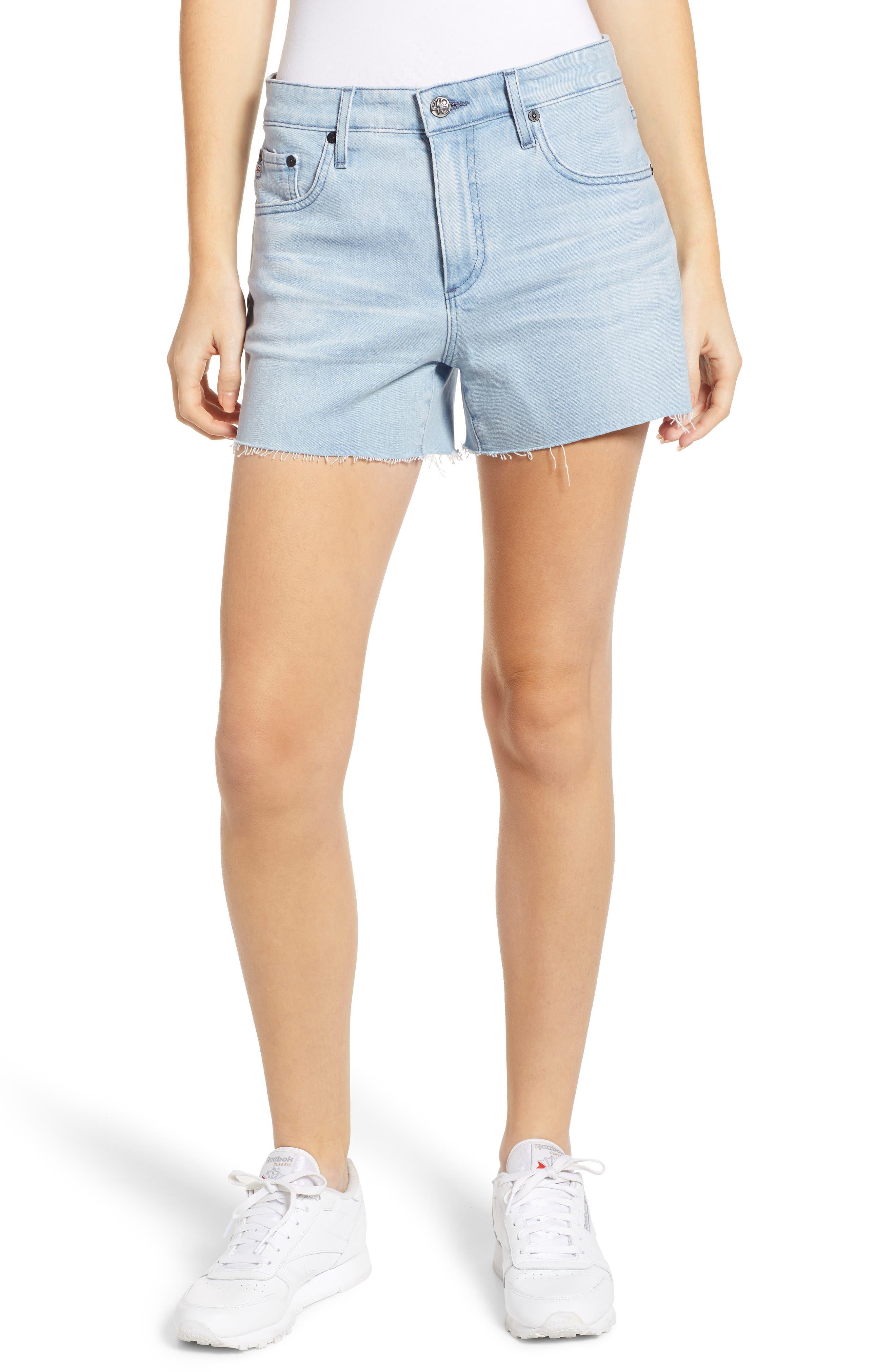 Hailey Boyfriend Cutoff Denim Shorts, Main, color, 26 YEARS SANGUINE