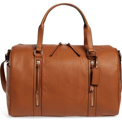 Sole Society Garyn Faux Leather Duffle Bag - Brown