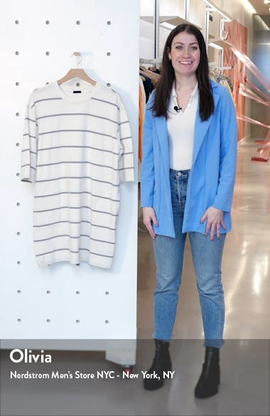 Plaited Stripe Jersey Sweatshirt Dress, sales video thumbnail
