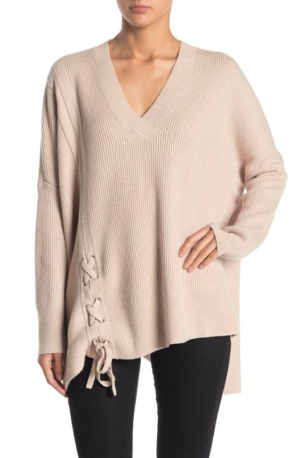 Image of ALLSAINTS Able Lace-Up Tunic Sweater