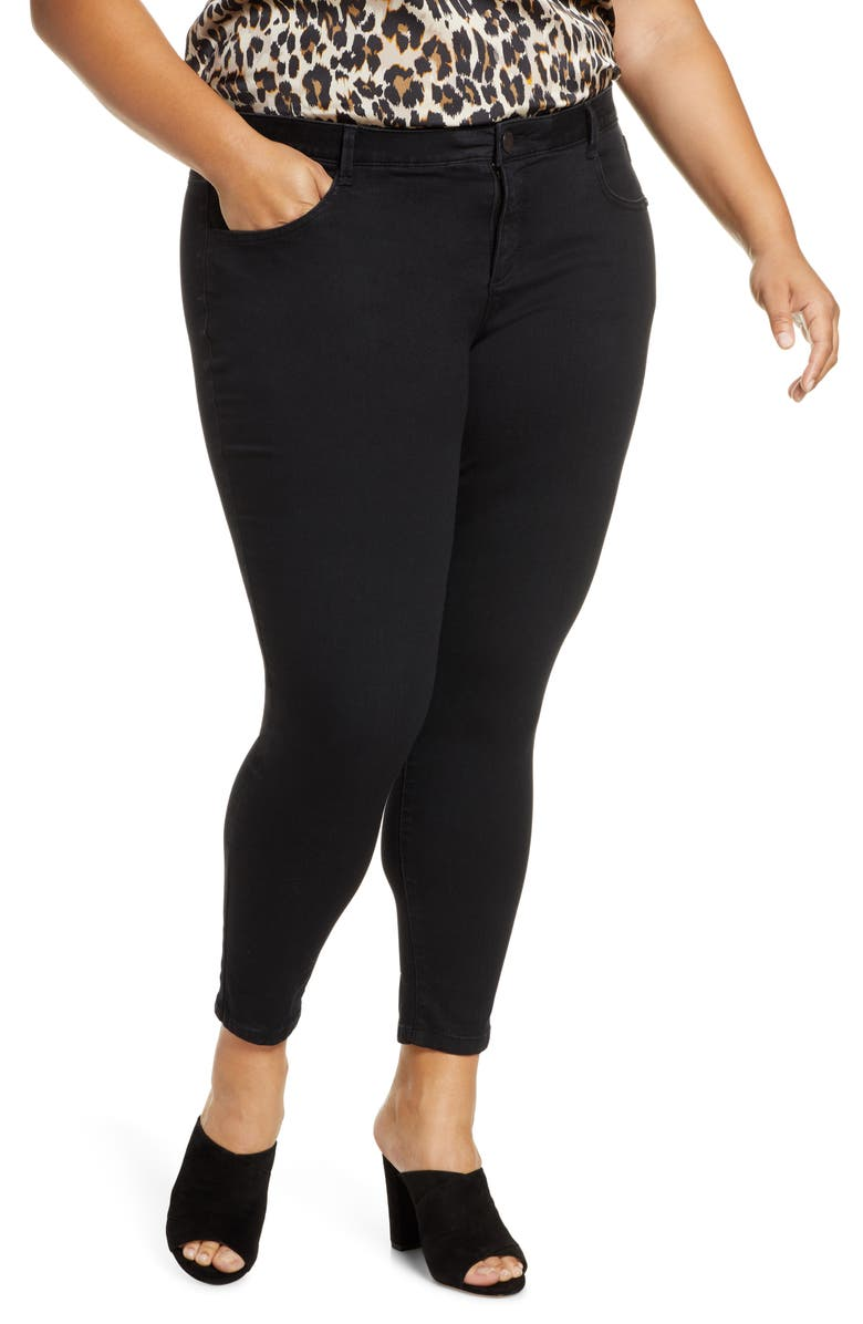 WIT & WISDOM Ab-Solution High Waist Ankle Skinny Jeans, Main, color, BLACK
