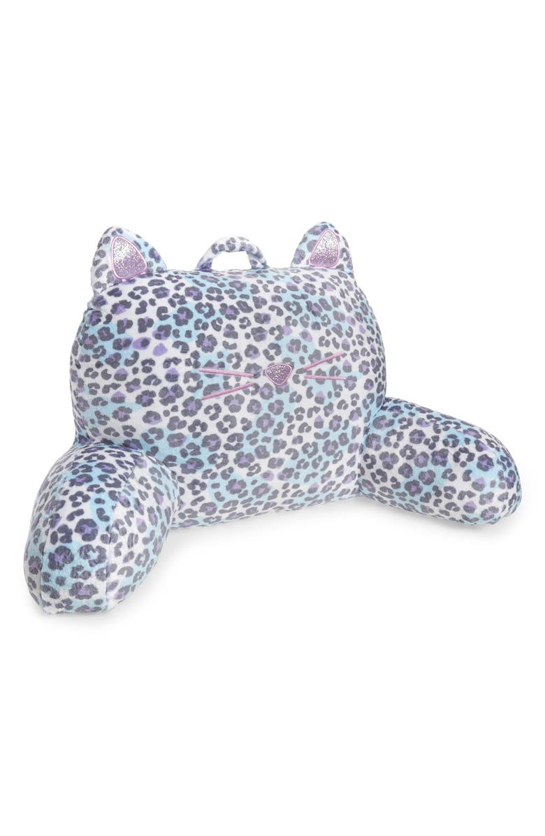 ISCREAM Snow Leopard Lounge Pillow, Main, color, SNOW LEOPARD