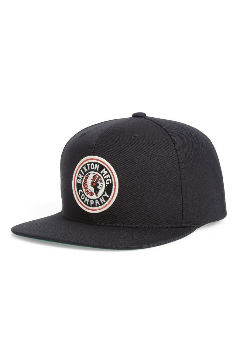 BRIXTON 'Rival' Snapback Cap, Main, color, 001