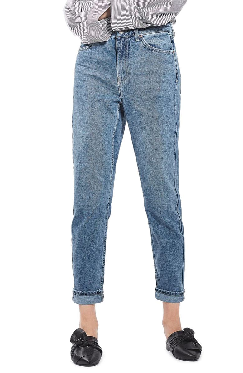 TOPSHOP Mom Jeans, Main, color, 420