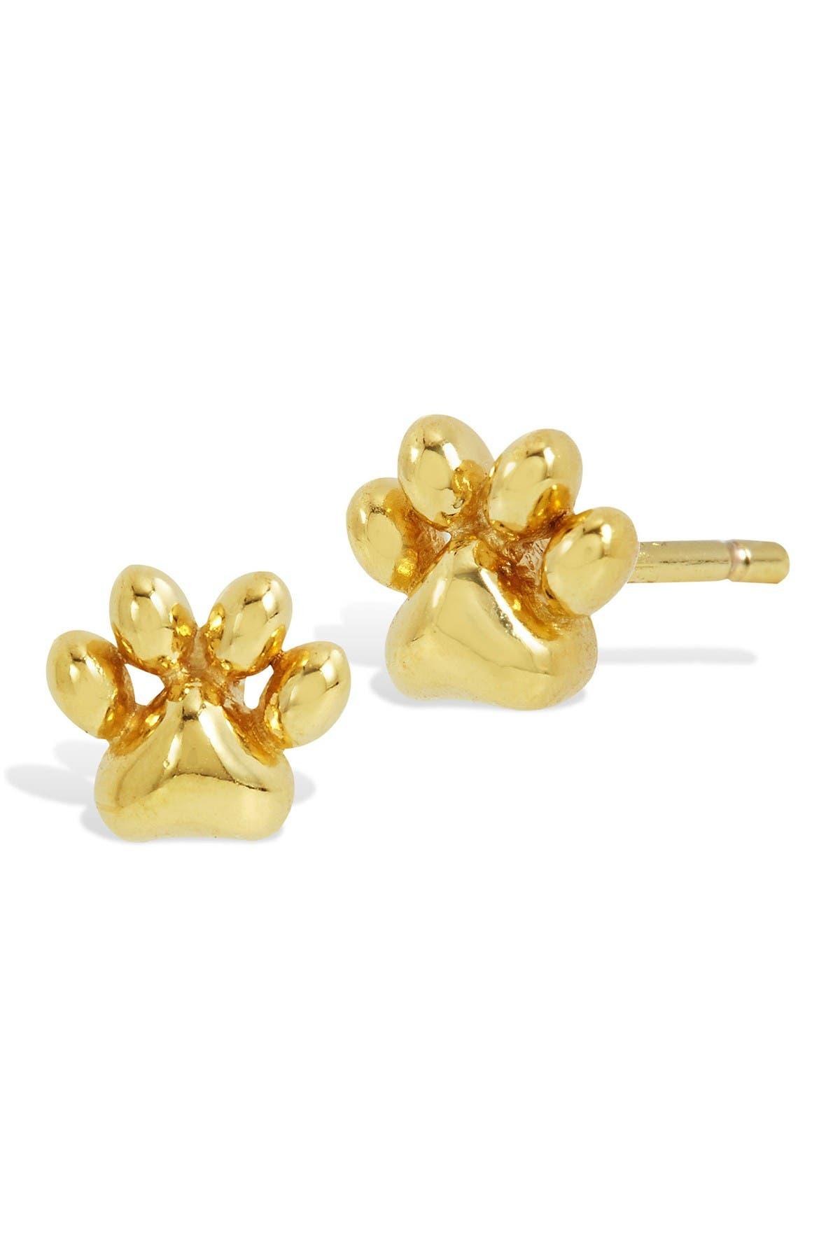 Image of Savvy Cie 18K Gold Vermeil Micro Paw Stud Earrings
