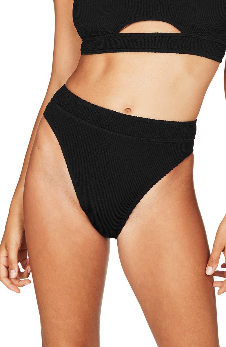 9597b2a371c8c BOUND by Bond-Eye The Savannah High-Waist Ribbed Bikini Bottoms ...