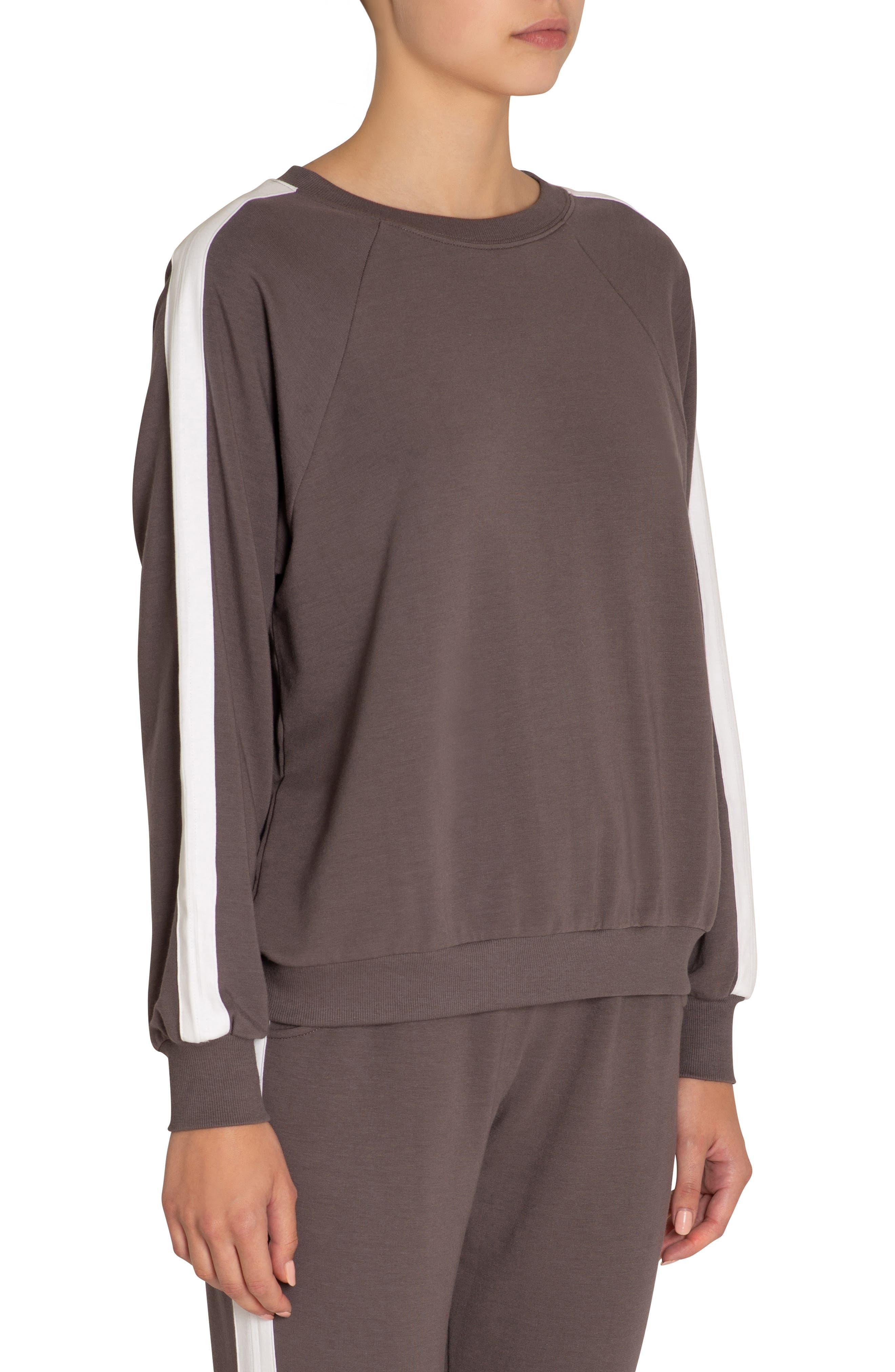 Eberjey Colby Sweatshirt, Grey