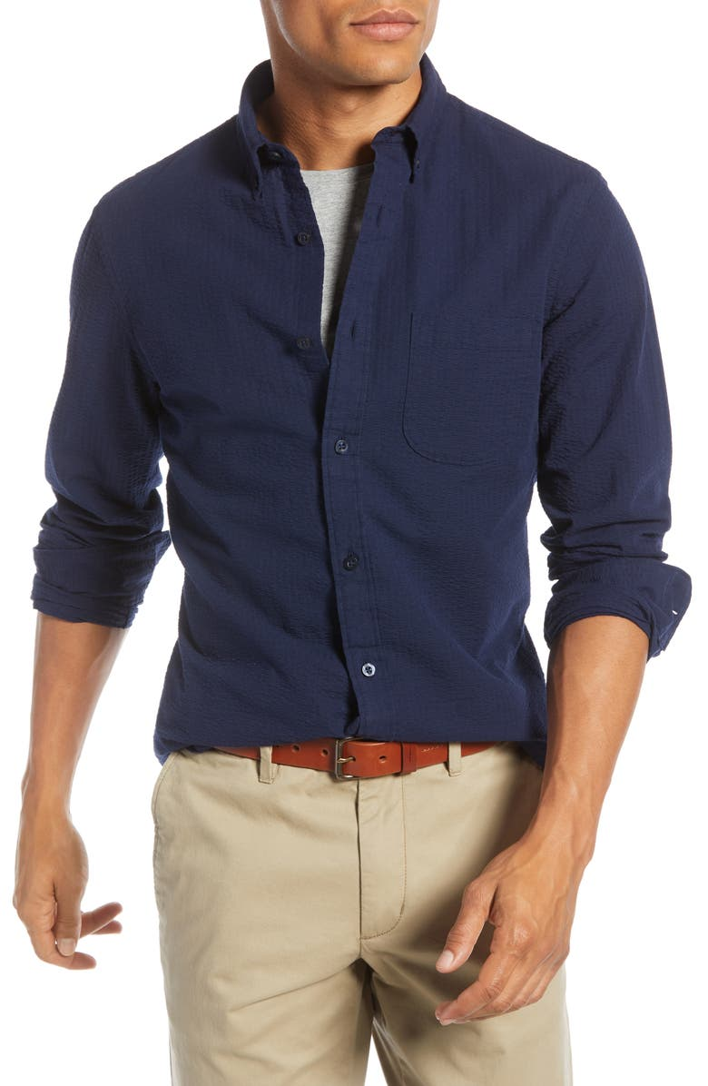 1901 Seersucker Slim Fit Shirt, Main, color, 410
