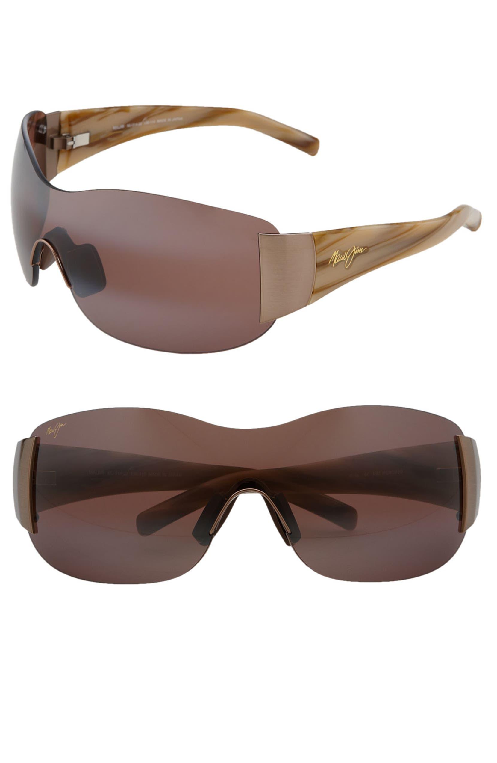 0a3987af4fb Maui Jim 'Kula - PolarizedPlus®2' 73mm Rimless Shield Sunglasses | Nordstrom
