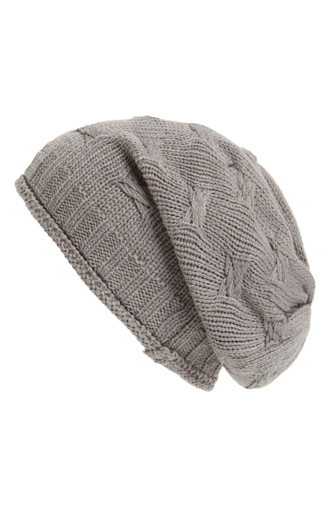 ,                             Braid Knit Beanie,                             Main thumbnail 3, color,                             020