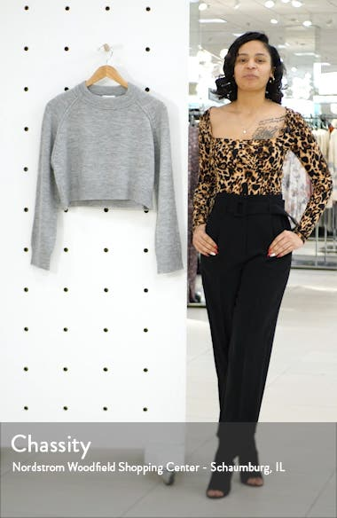Raglan Sleeve Crop Sweater, sales video thumbnail