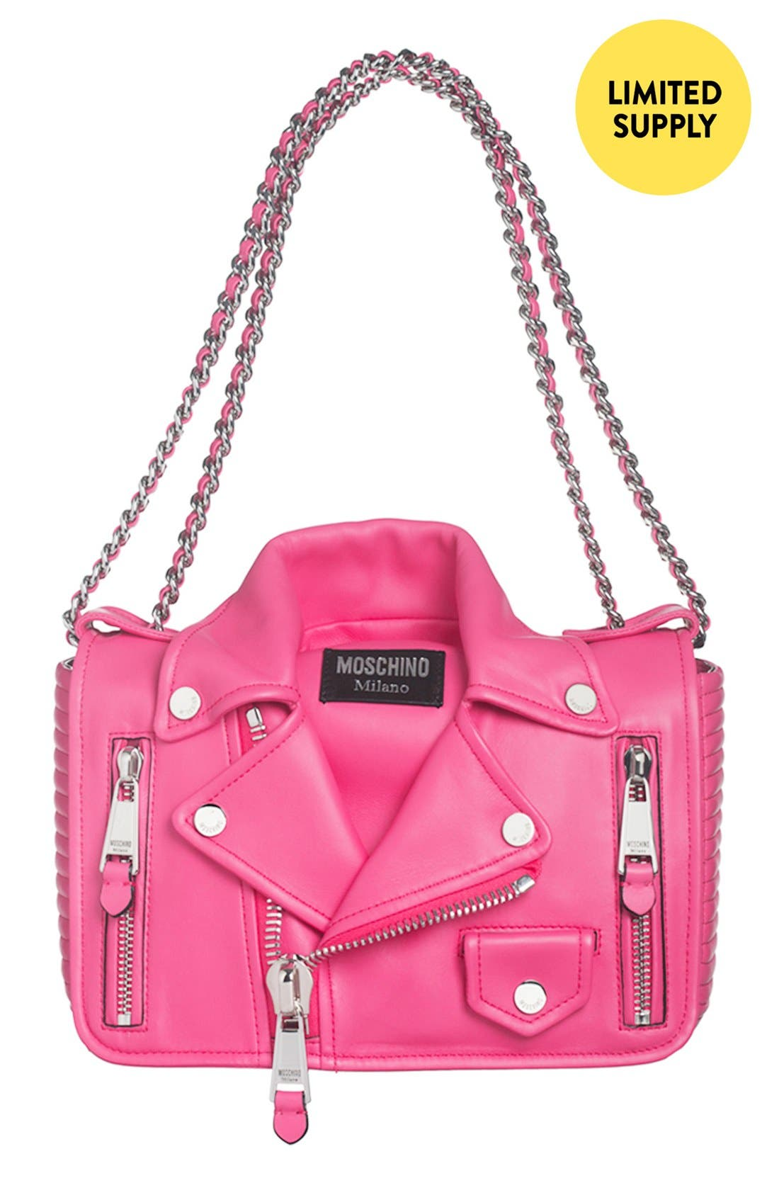 'Biker Jacket' Shoulder Bag, Main, color, 650