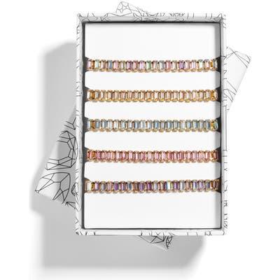 Baublebar Alidia Set Of 5 Crystal Pull Through Bracelets