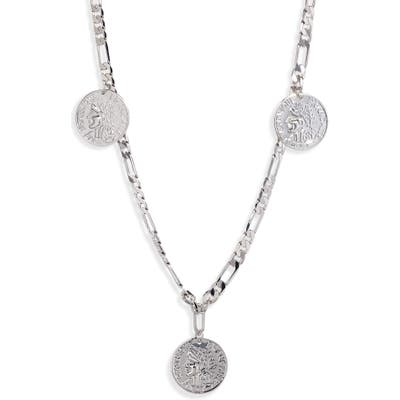 Sterling Forever Figaro Charm Necklace